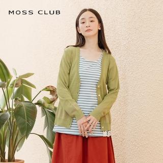 【MOSS CLUB】針織木質排釦薄-外套(三色)