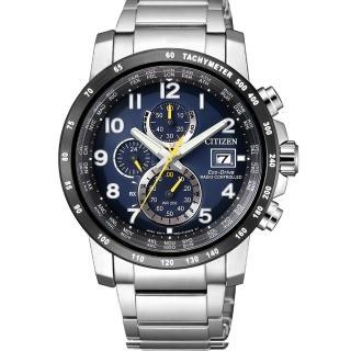 【CITIZEN 星辰】Eco-Drive 光動能夜光電波腕錶(AT8124-91L)