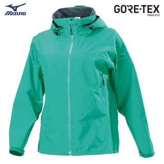 【MIZUNO 美津濃】女款單層GORE-TEX防水透氣外套 B2JE9X1024(湖水綠)(T恤)