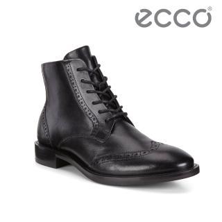 【ecco】SARTORELLE 25 TAILORED 復古英倫雕花牛津短靴 女(黑 26635301001)