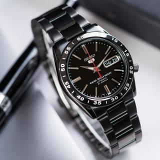 【SEIKO 精工】精工五號 沉穩耀黑自動上鍊機械錶(SNKE03KC)
