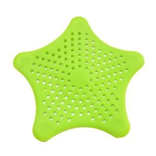 【水摩爾】星型防堵過濾網5入-9色隨機出貨(造型排水口墊 過濾網 地漏蓋)