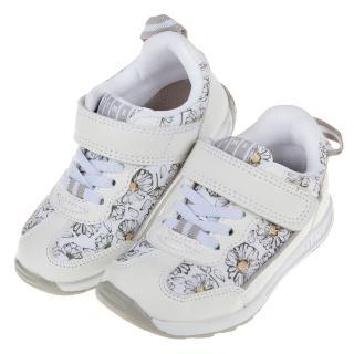 【布布童鞋】日本IFME瑪格麗特花白色兒童機能運動鞋(P9Y802M)
