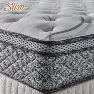 【SLIM奢華型】天絲乳膠記憶膠防蹣獨立筒床墊-618限定防疫好眠(雙人加大6尺)