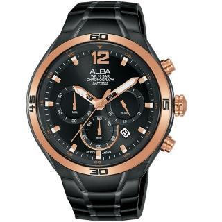 【ALBA】廣告款運動計時手錶(VD53-X353SD AT3G36X1)