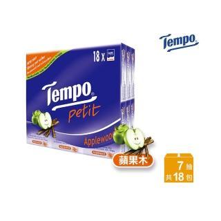 【TEMPO】紙手帕-蘋果木(7抽x18包/組)