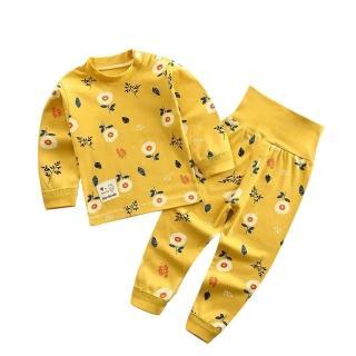 【Baby 童衣】任選 居家套裝 兒童睡衣 薄長袖套裝 寶寶居家服 88217(肩開扣-黃小花)
