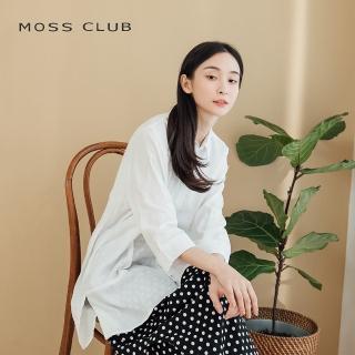 【MOSS CLUB】不規則條紋七分袖-襯衫(三色)