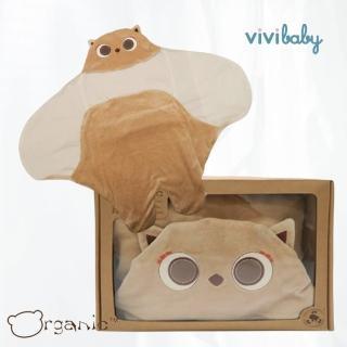 【Organic】有機棉小狐狸懶人包巾/嬰兒包巾禮盒(禮盒裝)