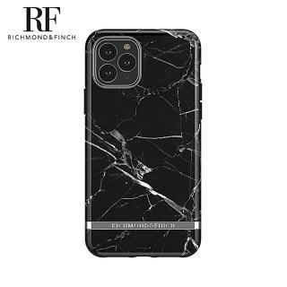 【Richmond&Finch】瑞典手機殼 大理石紋銀線框 - 黑色(iPhone 11 6.1吋)