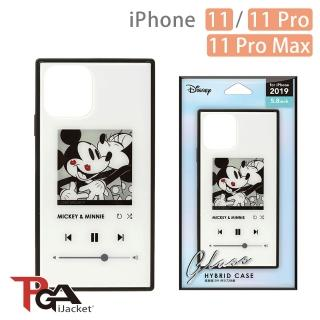 【iJacket】iPhone 11/11 Pro/11 Pro Max 迪士尼 四角氣墊 9H玻璃殼(米奇白)