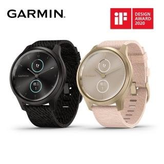 【GARMIN】vivomove style 指針智慧腕錶(尼龍錶帶)