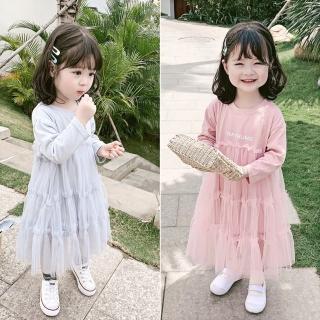 【小衣衫童裝】秋冬女童甜美款長袖花邊紗裙洋裝(1080916)