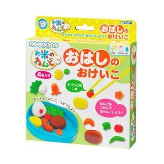 【日本銀鳥】天然無毒米黏土練習使用筷子套裝組益智教育玩具(台灣正版代理)