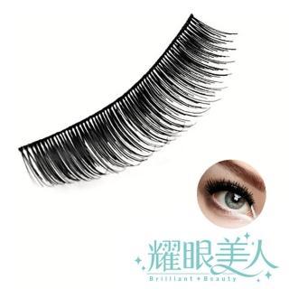 【耀眼美人】耀眼美人天然髮絲輕柔假睫毛明梗808S發電S(10對入超值桃花組)