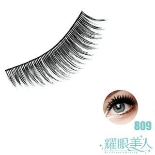 【耀眼美人】耀眼美人天然髮絲輕柔假睫毛明梗809無瑕(10對入超值桃花組)