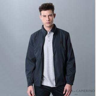【ROBERTA 諾貝達】休閒時尚 細格紋夾克外套(深藍)