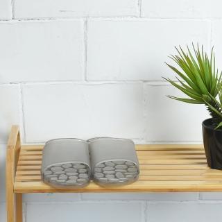 【生活工場】靚灰仿石浴室拖鞋