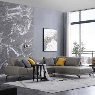 【FL 滿屋生活】FL Ares 阿瑞斯 - 時尚造型 L 型真皮沙發(L型沙發/真皮沙發/實木沙發/熱銷人氣款/真皮沙發)