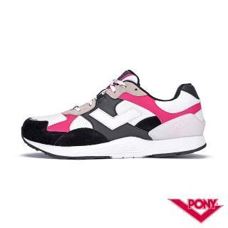 【PONY】BOUNCE系列-復古運動鞋 厚底老爹鞋 潮流 舒適 球鞋 女款 黑桃