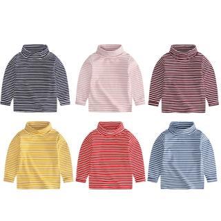 【Baby 童衣】兒童上衣 長袖打底T恤 條紋內搭衣88226(共六色)