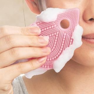 【日本東和TOWA】易起泡軟質矽膠雙面按摩潔顏刷(美體 美肌 洗臉 清潔 去角質 保養 盥洗 浴室 懶人)
