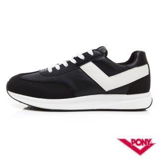【PONY】Montreal 輕量時尚運動鞋 慢跑鞋 休閒鞋-女鞋 黑色