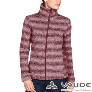 【VAUDE】女款羊毛時尚刷毛立領保暖外套(VA-41084酒紅/透氣/戶外/休閒)