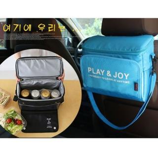 【DF Queenin】車用野餐雙生活收納袋保溫袋-2色