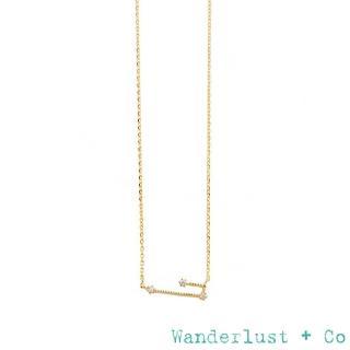 【Wanderlust+Co】奇幻十二星座鍍14K金鋯石項鍊(金牛座)