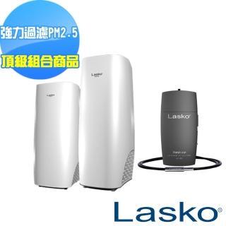 【Lasko】白淨峰高效節能空氣清淨機頂級組合組(送穿戴式清淨機)
