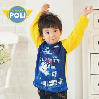 【POLI 波力】POLI波力變形金剛拼接長袖上衣-黃(P1206-33)