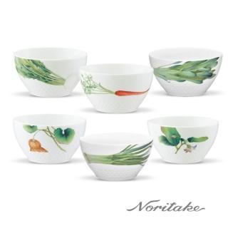 【NORITAKE】京香旬彩白瓷飯碗(6件組)