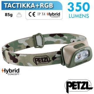【PETZL】新款 TACTIKKA +RGB 超輕量戰術頭燈/350流明.IPX4防水.LED頭燈(E089FA01 迷彩)