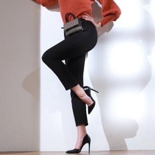 Yumie棉柔光感Q彈記脂纖維纖瘦絨長腿褲