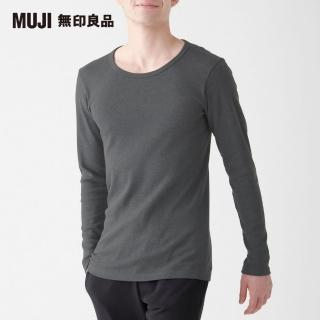 【MUJI 無印良品】男棉混羊毛高保暖圓領長袖T恤(共3色)