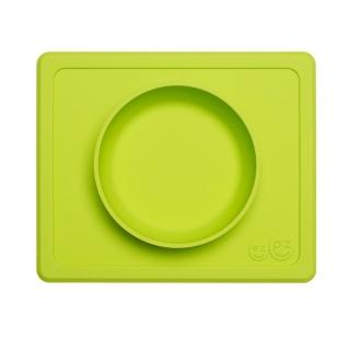 【美國ezpz】mini bowl迷你餐碗+餐墊:蘋果綠(FDA認證矽膠、防掀倒寶寶餐具)