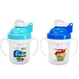 【TAYO】學習吸口水杯240mlx2入組 雙耳水壺(小巴士+小飛機)