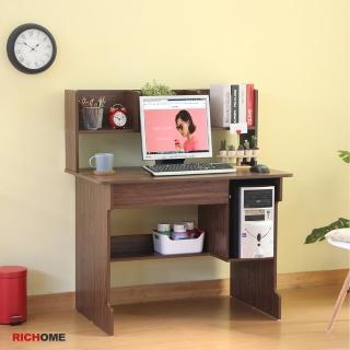 【RICHOME】貝莉雙抽屜電腦桌/書桌/工作桌(可改放主機)