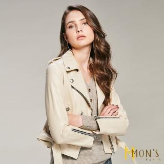【MON'S】高規厚磅騎士皮衣年度款(100%羊皮)