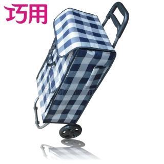 【巧用】大單輪方型購物車(多款花色 隨機出貨)