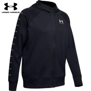 【UNDER ARMOUR】UA 女 Rival Fleece Sportstyle LC Sleeve Graphic 連帽外套_1348559-001(黑)