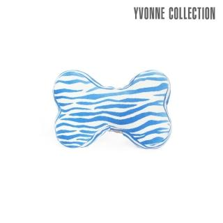 【Yvonne Collection】斑馬紋車用骨頭頸部抱枕(藍)