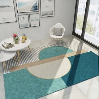 【巴芙洛】北歐簡約時尚水晶絨地毯140*200CM加大(加大地毯/水晶絨/地毯/防滑/踏墊/止滑地墊/毯)