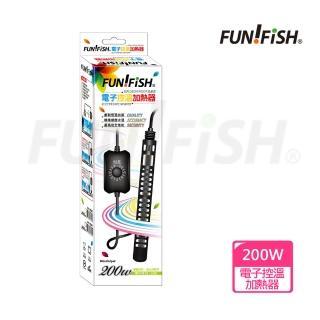 【FUN FISH 養魚趣】電子控溫加熱器-防爆型200W+護套(魚缸加溫 適用水量約81~160L)