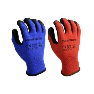 【Yashimo】藍色/紅色皺膠手套(園藝/工作/皺面/止滑防滑/透氣/加厚天然乳膠)