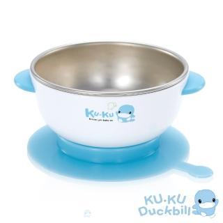 【KU.KU. 酷咕鴨】不銹鋼隔熱吸盤碗(藍/ 粉)