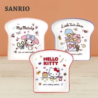 【SANRIO 三麗鷗】吐司盤(共3款-凱蒂貓/美樂蒂/雙星仙子)