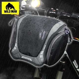 【WILD MAN】自行車龍頭袋可拆式相機工具大容量防水收納包 黑