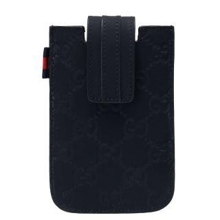 【GUCCI 古馳】經典guccissima牛皮IPHONE4/4S手機保護套(深藍240188-AF66N-8497)